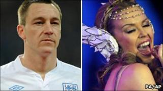 England captain John Terry and Kylie Minogue