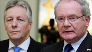 Peter Robinson and Martin McGuinness