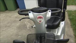 Silver mobilty scooter
