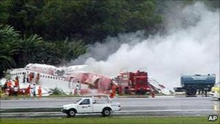 The Phuket plane crash in 2007