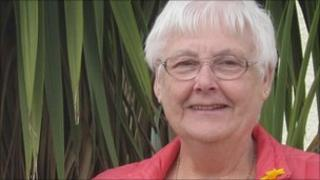 Gwen Lowe was found in the arms of a student nurse