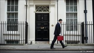 Chancellor of the Exchequer George Osborne leaves 11 Downing Street for Parliament