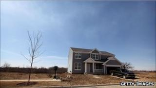 Newly built house in Volo, Illinois