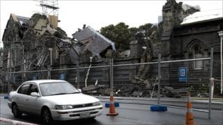 Church that collapsed during the earthquake in Christchurch
