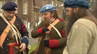 Re-enactment group at Culloden House