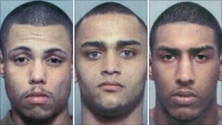 (L to R)Terrance Carlos, Joshua Goffe, Shafee Shabbaz