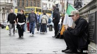 Man begging on streets