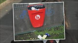 full litter bin