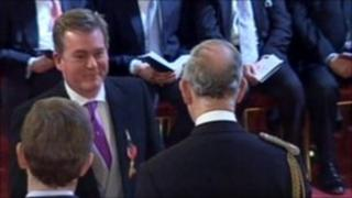 Mark Carruthers receives his OBE
