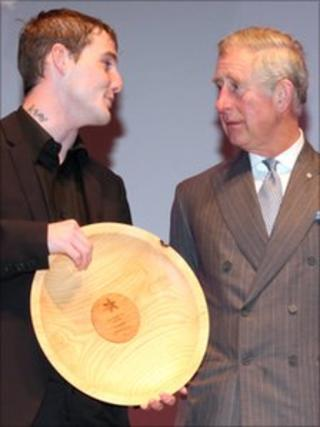 Jason Newman with Prince Charles
