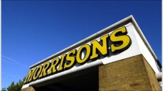 A Morrisons store sign