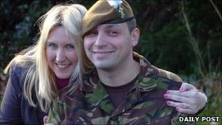 Fusilier Jason Palmer and wife Melanie