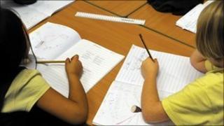 Children working