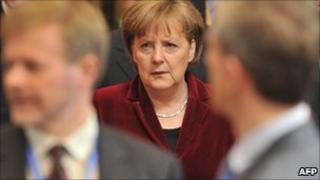 Angela Merkel at EU summit, 25 March 2011