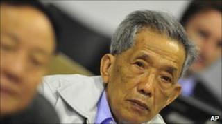 Comrade Duch at war crimes tribunal Phnom Penh, Cambodia 28 March 2011.