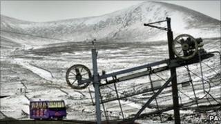 Scotland's only mountain railway near Aviemore