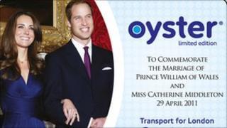 royal wedding Oyster card