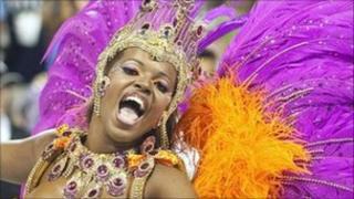 Samba dancer, Rio