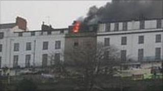 Fire in Ilfracombe