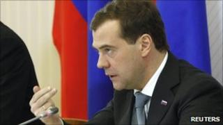 Russian President Dmitry Medvedev in Magnitogorsk (30 March 2011)
