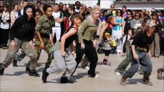 Dancers performing in Bournemouth