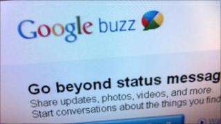 Google Buzz screenshot showing logo