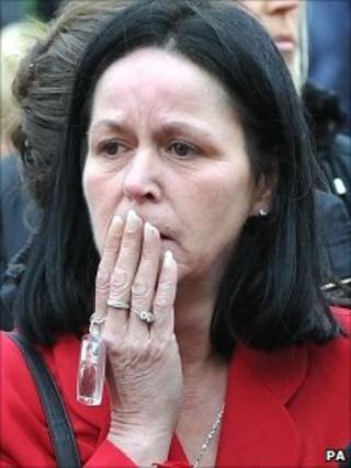 Tina Burgan, mother of L/Sgt Mark Burgan