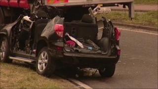 The scene of the crash