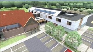 Artist's impression of new urgent care centre
