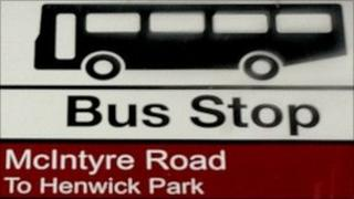 Bus sign