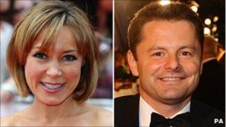 Sian Williams and Chris Hollins