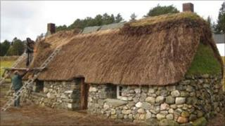 Thatched cottage at the Highland Folk Museum