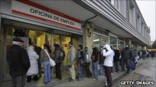 Unemployment queue in Spain