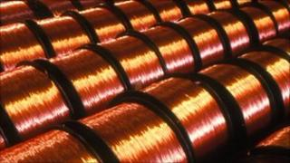 rolls of copper wire