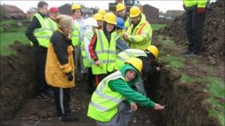 People digging in Sunderland