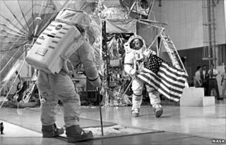 Training for moon landing