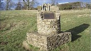 Memorial to Stow battle