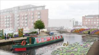 Artist impression of the Garden City project in Manchester