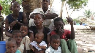 An Ivorian family in Liberia