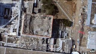 Fukushima Daiichi reactor No 1, seen on 24 March 2011