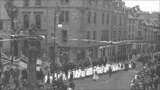 Proclamation of George V in Jedburgh 1910