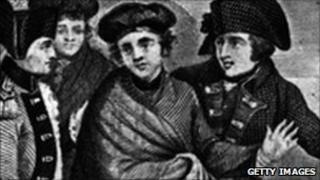 An artist's depiction of Charles Edward Stuart leaving for France after Culloden