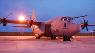 Plane at RAF Lyneham