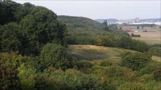 Battlestead Hill overlooking Burton