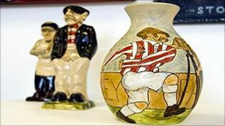 Stoke City pottery