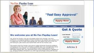 No Fax Payday Loan website