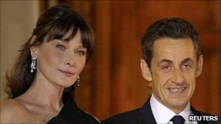 Carla Bruni and French President Nicolas Sarkozy, 2 Mar 11