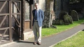 Tim Bridges at Dormington church