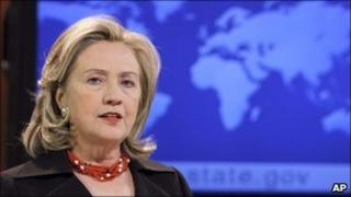 Hillary Clinton at US state department, Washington, 8 April 2011