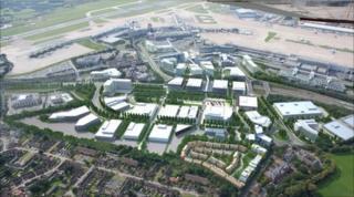 Impression of Airport City in Manchester